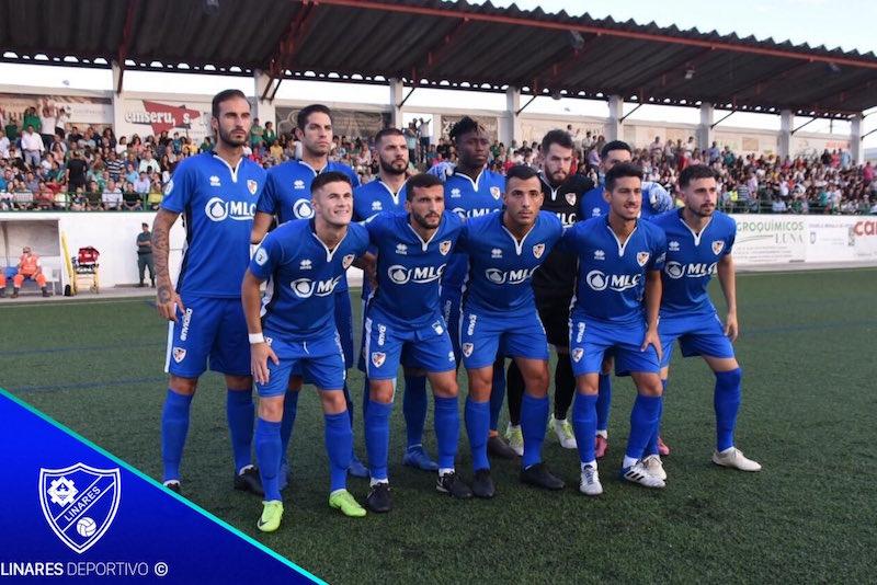 Once inicial del Linares Deportivo en la ida ante el Moralo CP