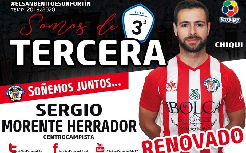 Chiqui, capitán del Atlético Porcuna