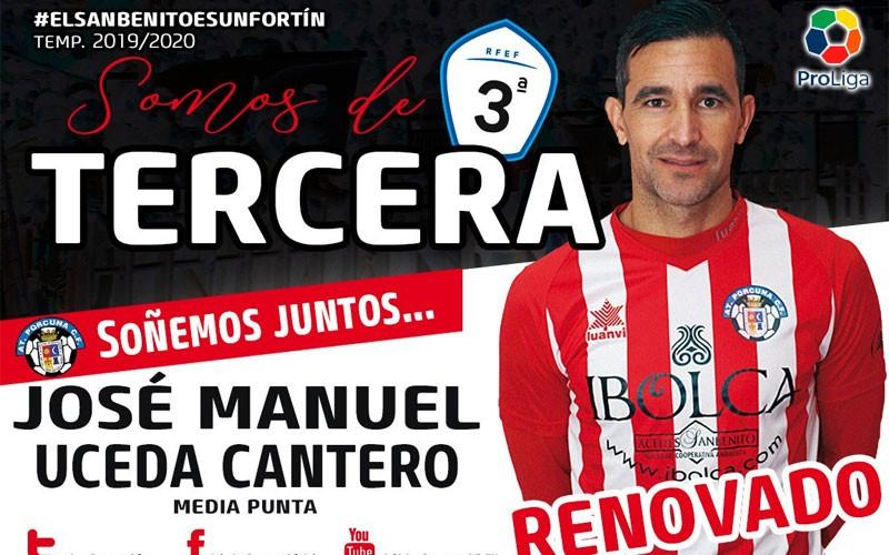 Uceda, jugador del Atlético Porcuna