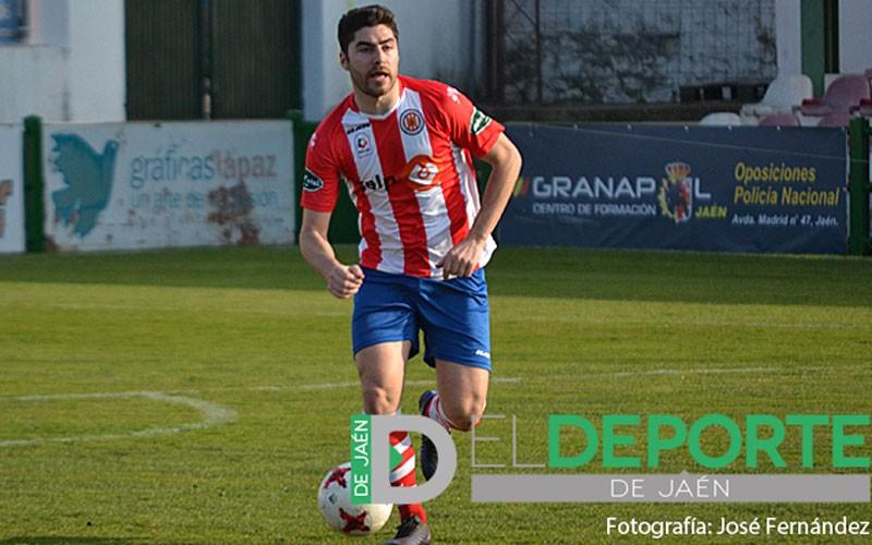 Lozano en un partido con la UDC Torredonjimeno