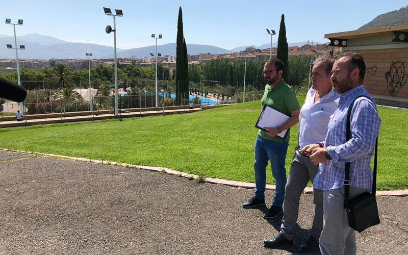 El concejal de Deportes visita Las Fuentezuelas