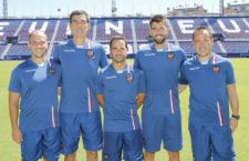 Juanjo Rico, primero por la izquierda. Foto: Levante UD.