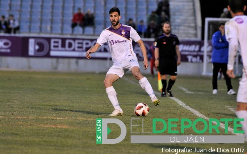 Alberto Heras en un partido con el Real Jaén