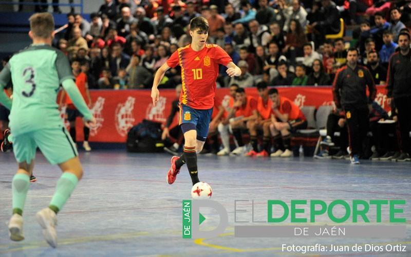 Antonio Pérez en un partido con la selección española de fútbol sala