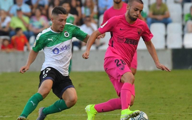 Ismael Casas en un partido con el Málaga CF
