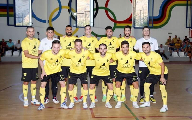Formación de jugadores del Jaén FS