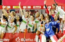 Brillante papel de la selección española. Foto: EHF.