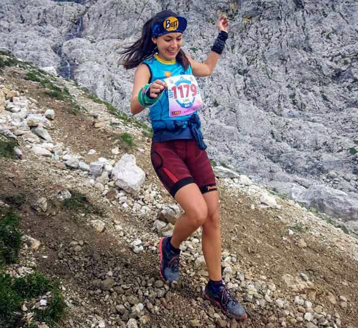 Silvia Lara, durante una prueba de kilómetro vertical.