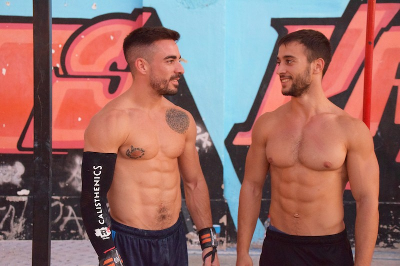 Javier Ales Robles y Baltasar Fernández Muñoz. Foto: Spartans Kastalon
