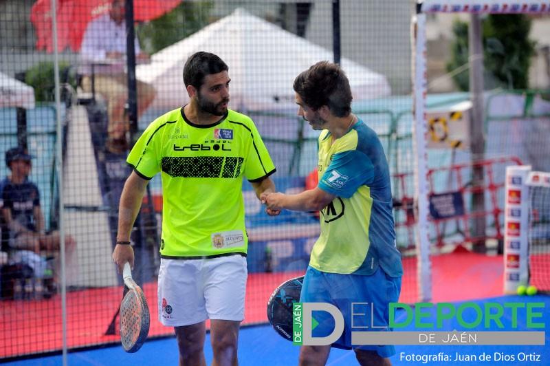 Antonio Luque junto a Diogo Rocha en el Jaén Open 2018