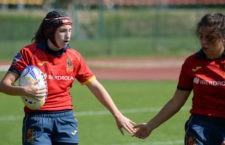 Gran actuación de las jugadoras jiennenses. Foto: Rugby España.