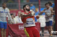 Alberto lanzó hasta los 71,69 m. Foto: RFEA.
