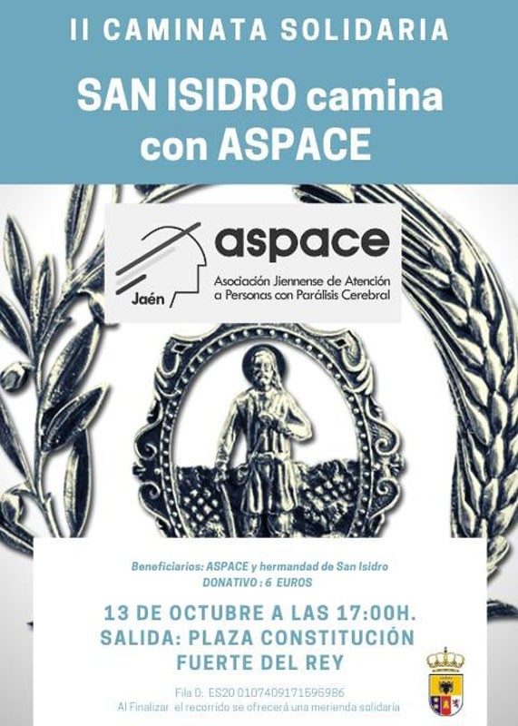 Cartel caminata solidaria Aspace Jaén Fuerte del Rey