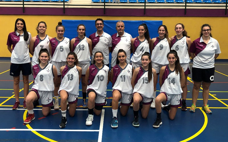 Jugadoras de la selección de Jaén de baloncesto cadete femenino