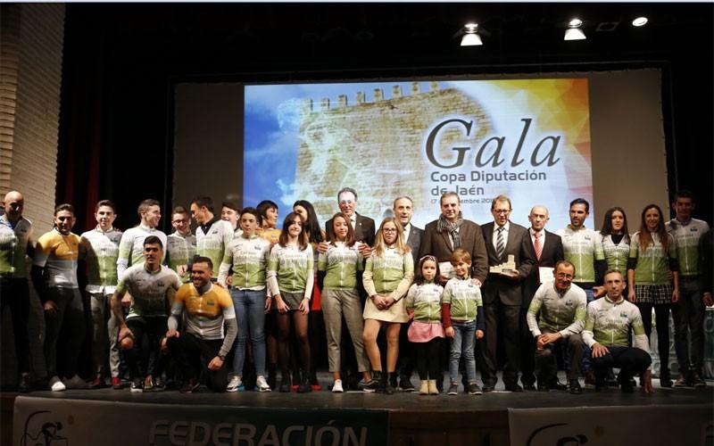 Premiados en la gala del ciclismo jiennense 2019