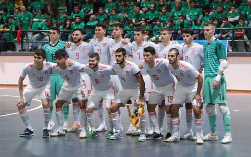 Formación de los jugadores de la selección española de fútbol sala sub-21