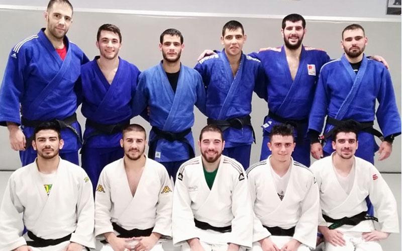 Judocas de la selección andaluza de judo