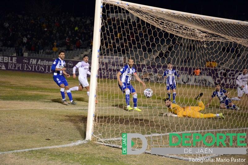 Accion del gol del Real jáen ante el alaves en copa del rey