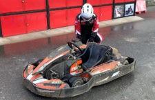 Podio de Juan Luis Real en el Trofeo de Karting de Navidad de la Copa Regional de León