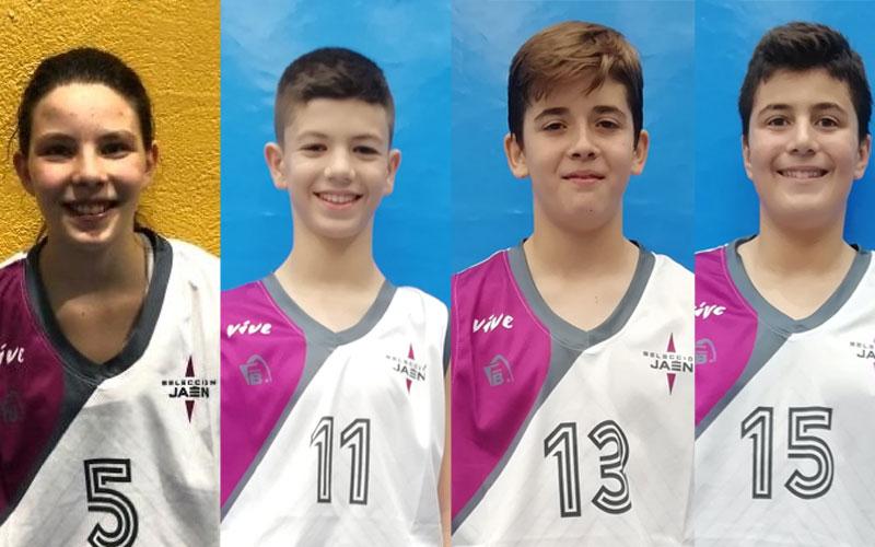 Cuatro jiennenses en las preselecciones andaluzas de minibasket