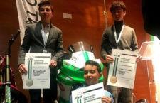 Reconocimiento a los pilotos jiennenses del Deza Córdoba. Foto: Deza.