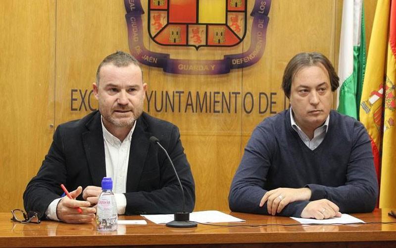los concejales de cultura y deportes del ayuntamiento de jaén durante una rueda de prensa