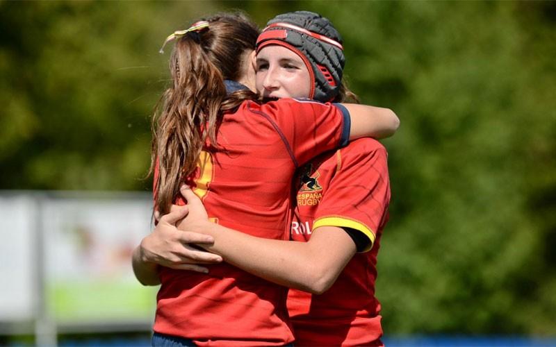 Lea Ducher durante su participación con la selección española