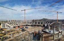 Obras de construcción del Olivo Arena. Foto: Miguel A. Corbella.