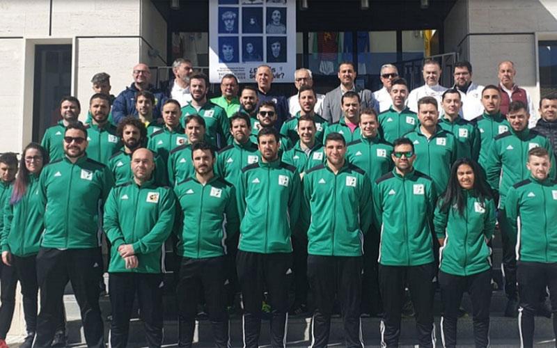 árbitros de fútbol sala en el seminario a nivel andaluz