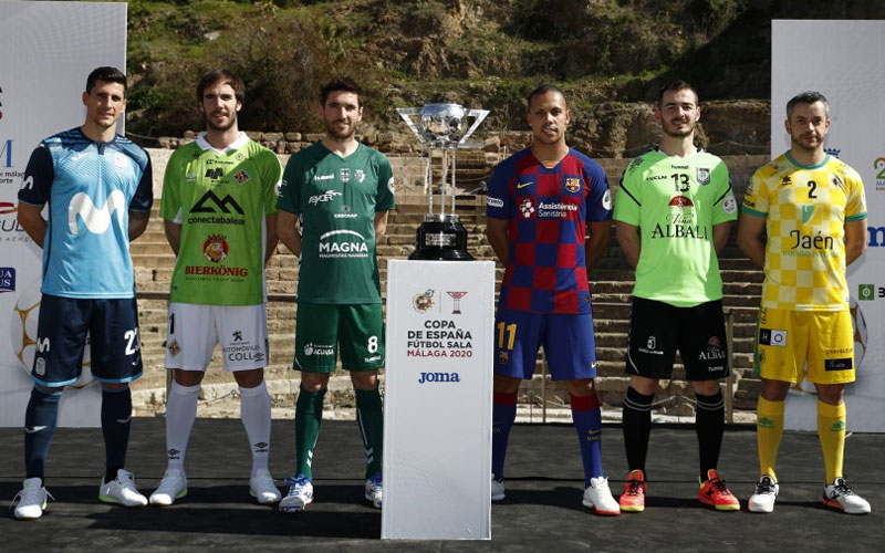 jugadores de los equipos participantes en la copa de españa de fútbol sala