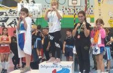 Cristina Peinado, subcampeona andaluza de formas de boxeo en categoría infantil