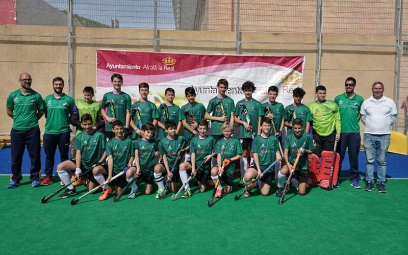 jugadores de la selección andaluza masculina de hockey sub-14