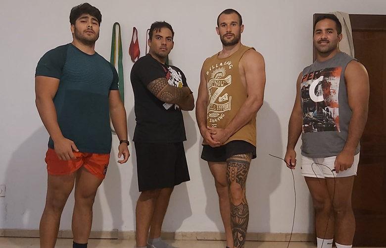 Gómez, Raya, Gasparri y Rutolo. Foto: Jaén Rugby.
