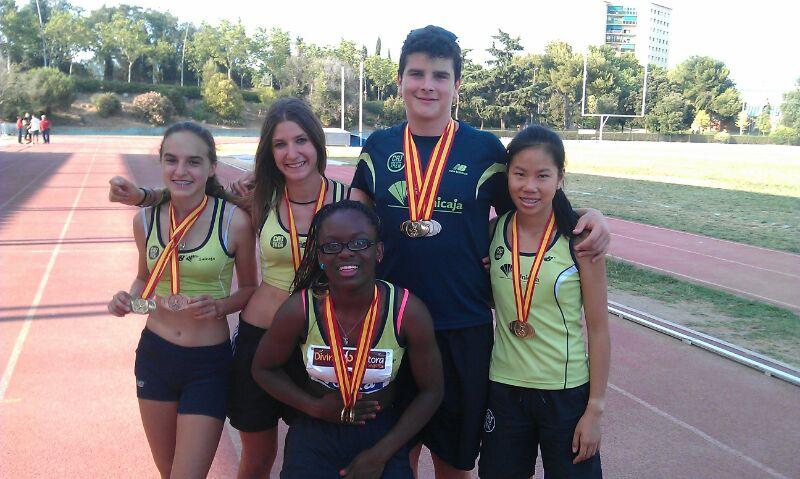 Los cadetes del Unicaja Atletismo consiguen cinco medallas en el Nacional de Granollers