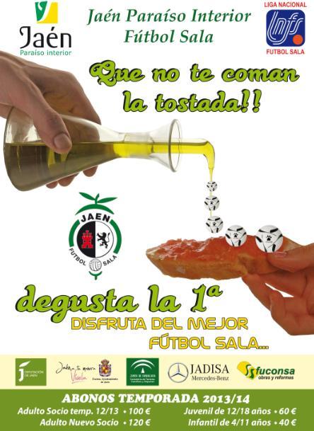 'Jaén, Paraíso Interior F.S.' presenta una campaña de abonados muy asequible