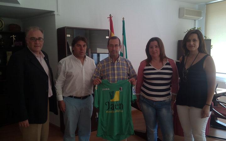 Reunión de análisis entre la directiva del Jaén FS y Sáez Mata