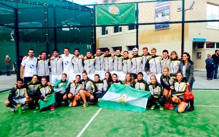 Antonio Luque y Marta Porras, campeón y subcampeona de España con la selección andaluza de pádel