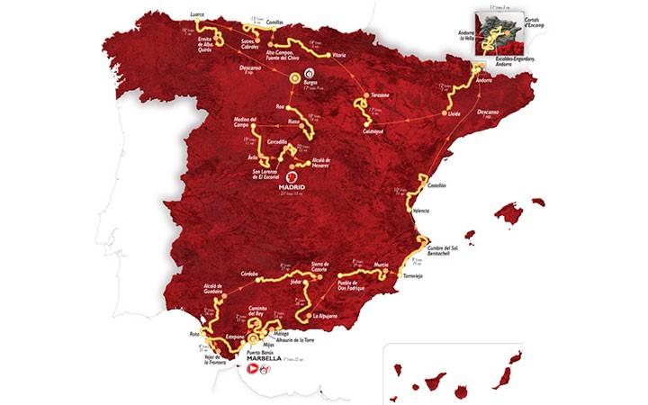 La Vuelta a España 2015 presenta su recorrido oficial con Cazorla y Jódar como puntos de llegada y salida
