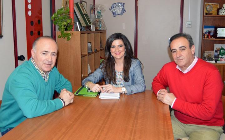 La Directiva del Jaén FS se reúne con Yolanda Caballero con motivo de la Copa de España