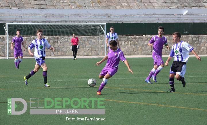 Valioso empate del Real Jaén Juvenil en su partido ante el Málaga CF