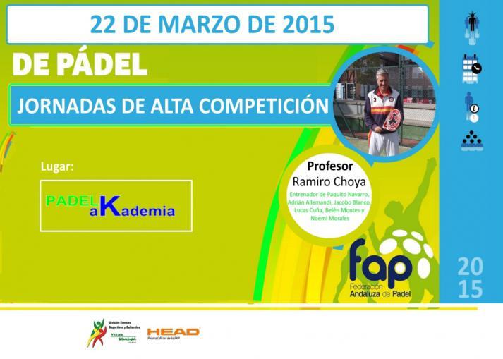 PadelaKademia celebra este domingo unas jornadas de alta competición con Ramiro Choya