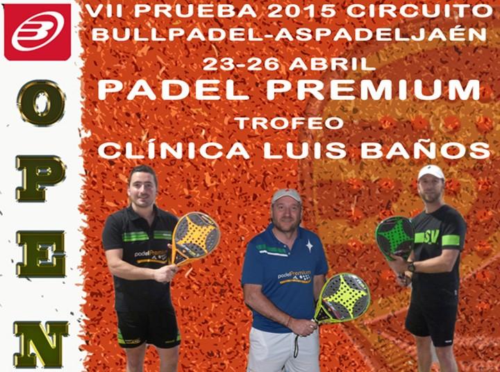 Padel Premium acoge el Open Oro 'Trofeo Clínica Luis Baños'
