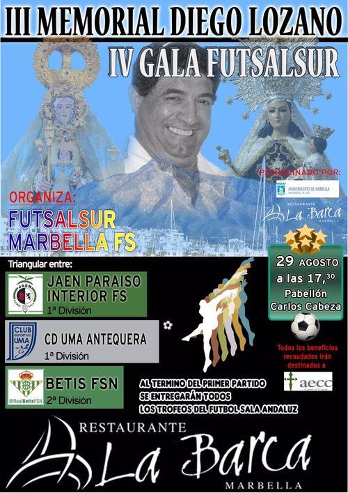 El fútbol sala andaluz celebrará un triangular encabezado por el Jaén Paraíso Interior FS