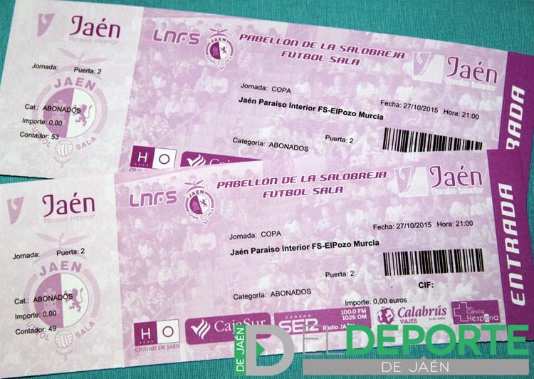 Sorteo de dos entradas para el Jaén Paraíso Interior FS-ElPozo Murcia (Copa del Rey)