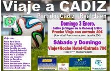 La Federación de Peñas del Real Jaén organiza un viaje para el encuentro frente al Cádiz
