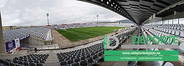 Panoramica Estadio la Victoria Real Jaen 22 Enero 2013