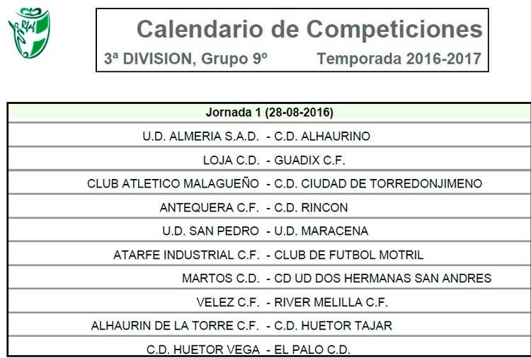 Martos CD y UDC Torredonjimeno ya conocen su calendario de la 2016-17
