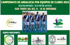 Alcalá la Real acogerá el playoff de ascenso a Primera del Andaluz por equipos de tenis