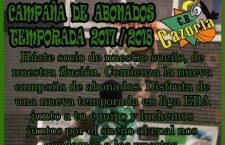 El CB Cazorla lanza su campaña de abonados con el 'sueño' del ascenso como referente
