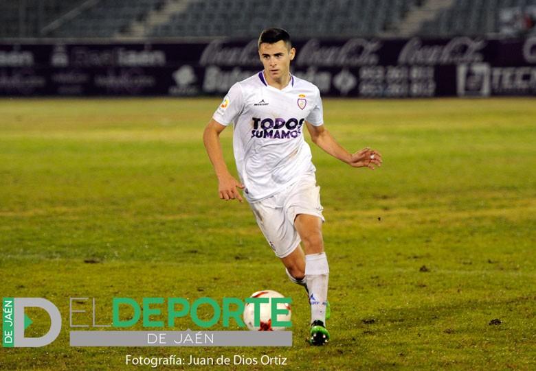 Cristian Rentero en un partido del Real Jaén